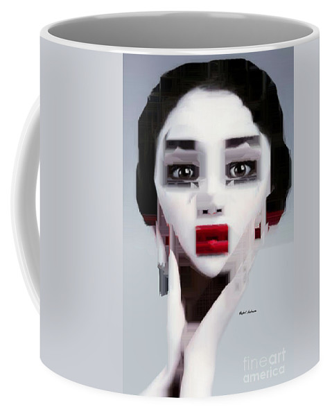 Rafael Salazar Coffee Mug featuring the digital art How Much by Rafael Salazar