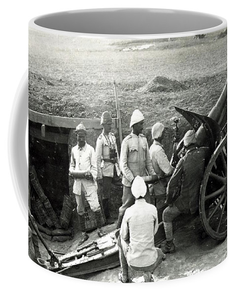 Howitzer-gun-turkey-world-war-i Coffee Mug featuring the painting Howitzer Gun Turke World War by MotionAge Designs