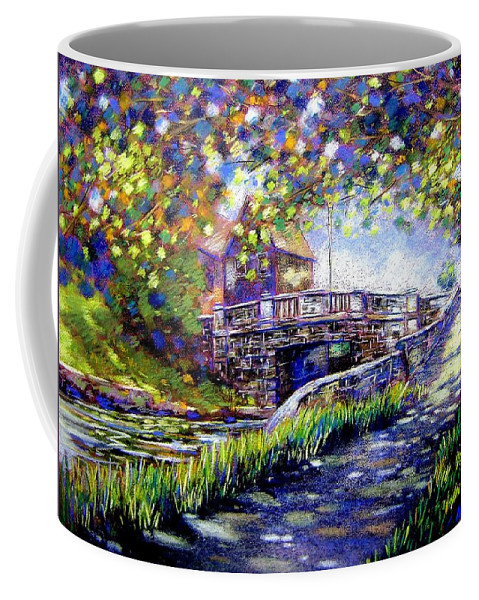 Pastel Coffee Mug featuring the pastel Huband Bridge Dublin City by John Nolan