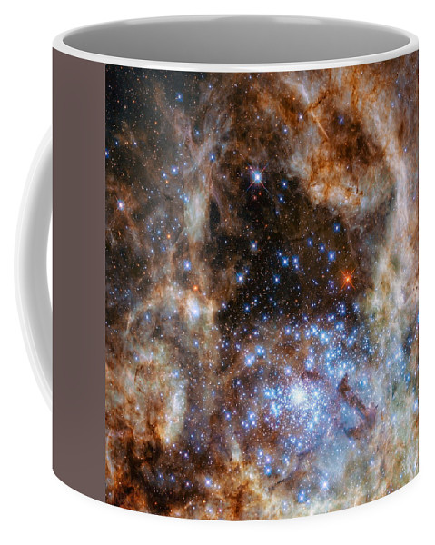 Hubble Coffee Mug featuring the photograph Hubble Finds Massive Stars by Nasa - Esa