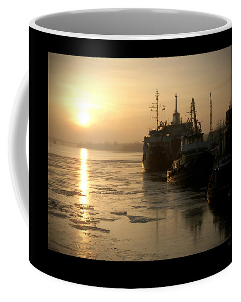 Boat Coffee Mug featuring the photograph Huddled Boats by Tim Nyberg