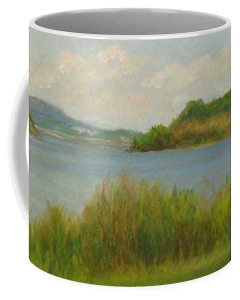 Oil Landscape Coffee Mug featuring the painting Hudson From Cold Spring by Phyllis Tarlow