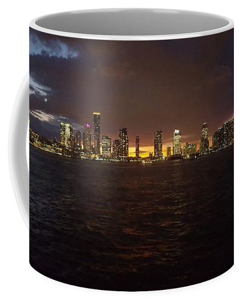 Nyc Coffee Mug featuring the photograph Hudson River At Dusk by Stefan Prelog