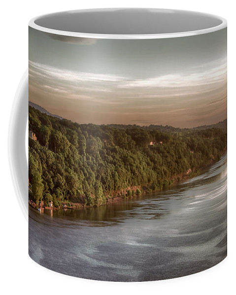 Hudson River Coffee Mug featuring the photograph Hudson River Morning by Eleanor Bortnick