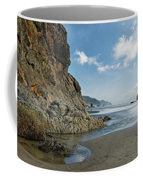 Oregon Coffee Mug featuring the photograph Hug Point Beach by Renee Hong