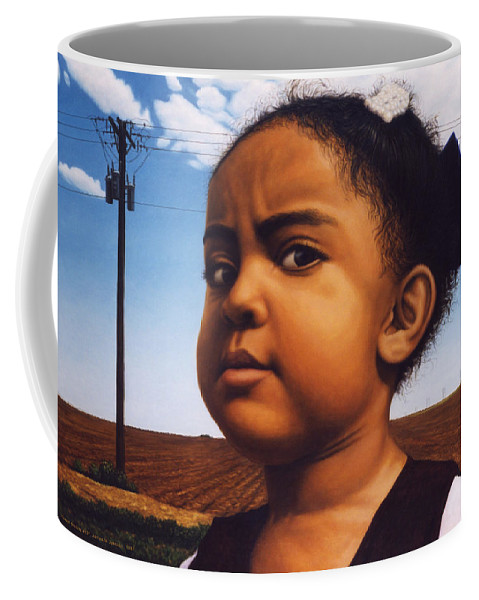 Baby Coffee Mug featuring the painting Human-nature Number Thirteen by James W Johnson