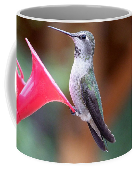 Green Coffee Mug featuring the photograph Hummingbird 1 by Mary Deal