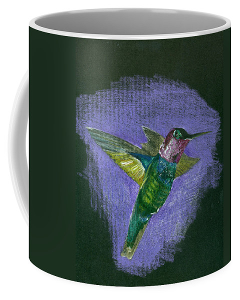 Bird Coffee Mug featuring the drawing Hummingbird by Mary Tuomi