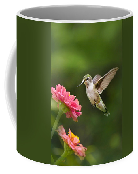 Bird Coffee Mug featuring the photograph Hummingbird Sunrise by Christina Rollo