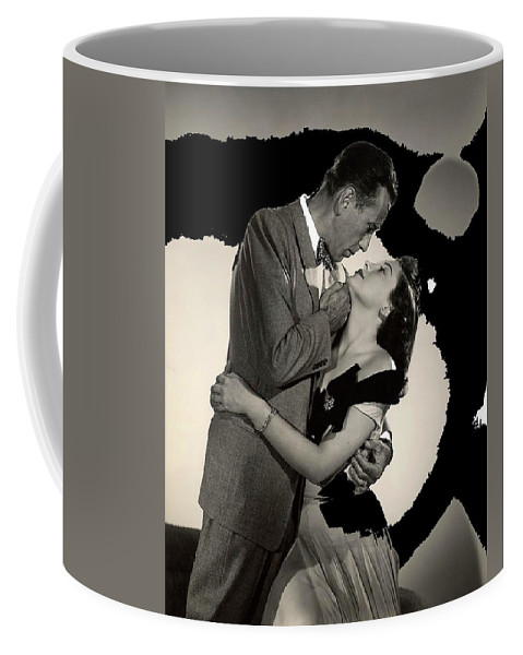 Humphrey Bogart Ava Gardner The Barefoot Contessa Collage 1954 Coffee Mug featuring the photograph Humphrey Bogart Ava Gardner The Barefoot Contessa Collage 1954-2016 by David Lee Guss