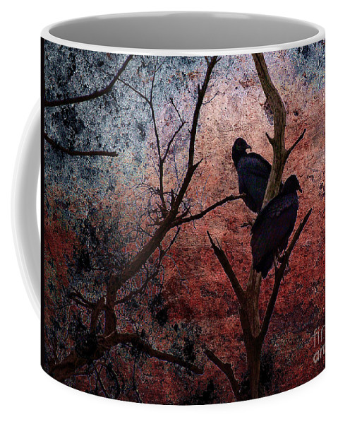 Buzzard Coffee Mug featuring the photograph Hunger by Lois Bryan