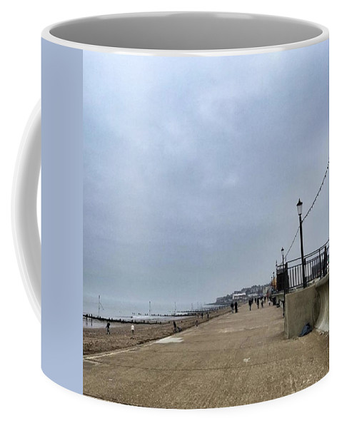 Beautiful Coffee Mug featuring the photograph Hunstanton At 4pm Yesterday As The by John Edwards