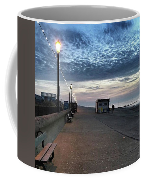 Beautiful Coffee Mug featuring the photograph Hunstanton At 5pm Today  #sea #beach by John Edwards
