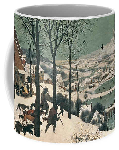 Hunters Coffee Mug featuring the painting Hunters In The Snow by Pieter the Elder Bruegel