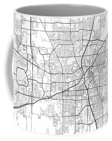 Road Map Coffee Mug featuring the digital art Huntsville Alabama Usa Light Map by Jurq Studio