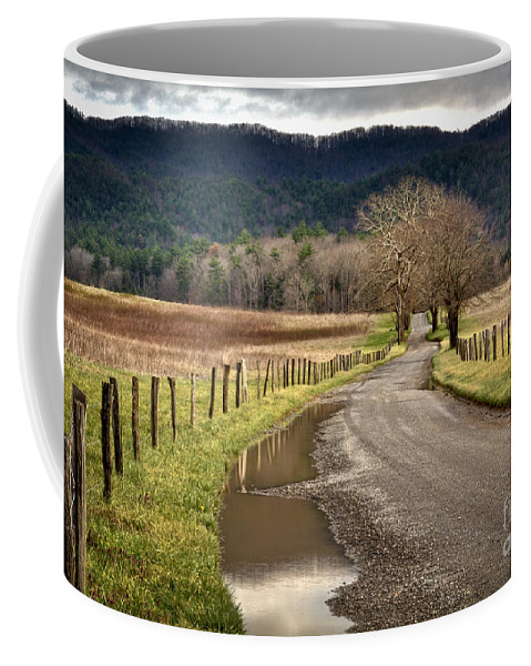 Coffee Mug featuring the photograph Hyatt Lane Cades Cove by Douglas Stucky