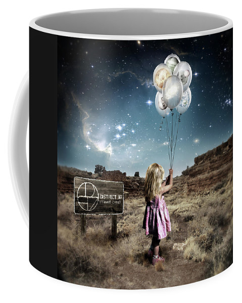 Coffee Mug featuring the digital art Hybrid Child by District 97