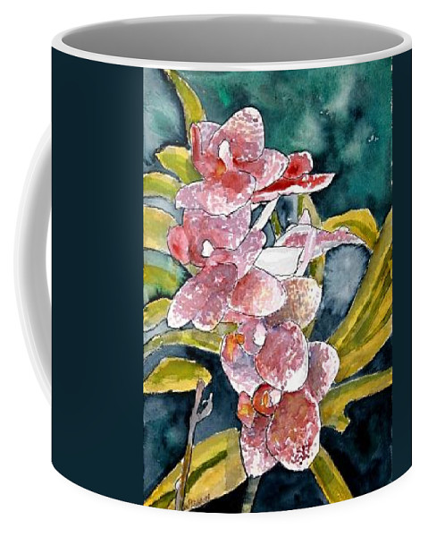 Orchid Coffee Mug featuring the painting Hybrid Orchids Orchid Flowers by Derek Mccrea