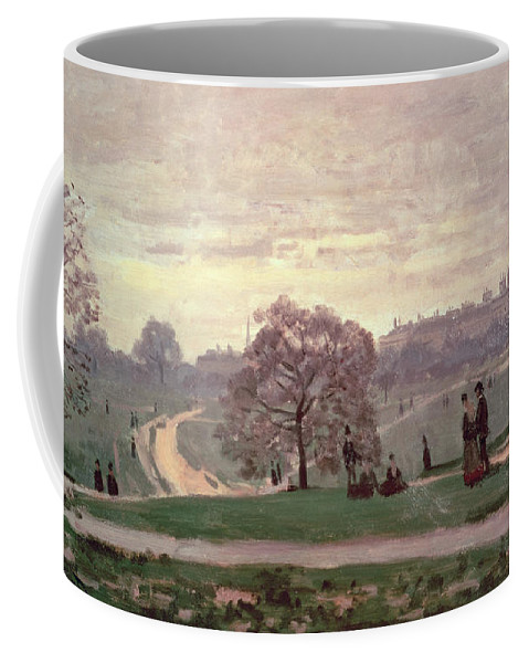 Hyde Park By Claude Monet (1840-1926) Coffee Mug featuring the painting Hyde Park by Claude Monet