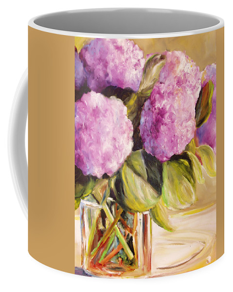 Hydrangea Coffee Mug featuring the painting Hydrangea Heaven by Toni Grote