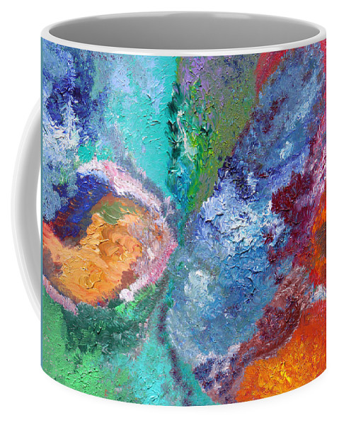 Fusionart Coffee Mug featuring the painting Hydrangea by Ralph White