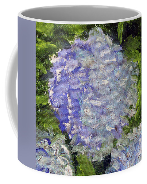 Nature Coffee Mug featuring the painting Hydrangea Time by Michael Helfen