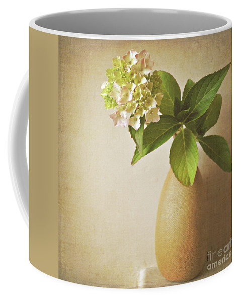 Hydrangea Coffee Mug featuring the photograph Hydrangea With Leaves by Lyn Randle
