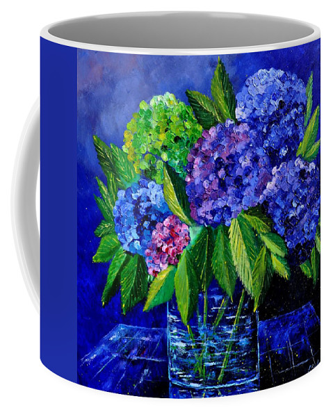 Flowers Coffee Mug featuring the painting Hydrangeas 88 by Pol Ledent
