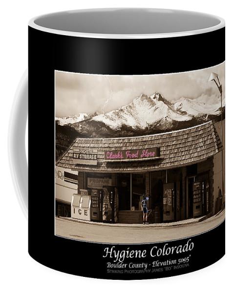 Hygiene Coffee Mug featuring the photograph Hygiene Colorado Bw Fine Art Photography Print by James BO Insogna