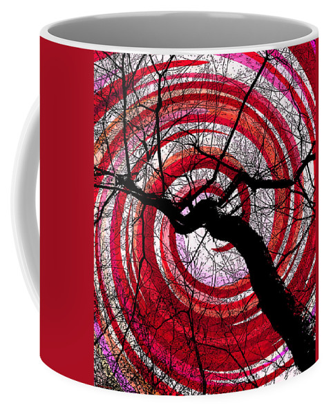 Colorful Tree Abstract Coffee Mug featuring the photograph Hypnotic Nature by Shawna Rowe