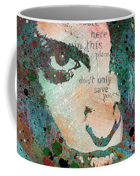 Portrait Coffee Mug featuring the painting Hypothermia In A Halo by Marco Paludet