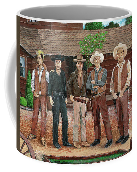 Bonanza Coffee Mug featuring the painting I Always Wanted To Be A Cartwright by Snake Jagger