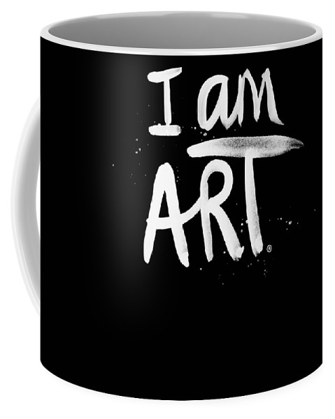 I Am Art Coffee Mug featuring the mixed media I Am Art- Painted by Linda Woods