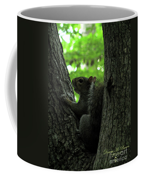 Squirrel Coffee Mug featuring the photograph I Am Here by Donna Brown