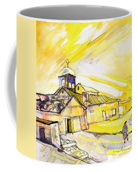 Fantasy Coffee Mug featuring the painting I Am Leaving Spain Now by Miki De Goodaboom