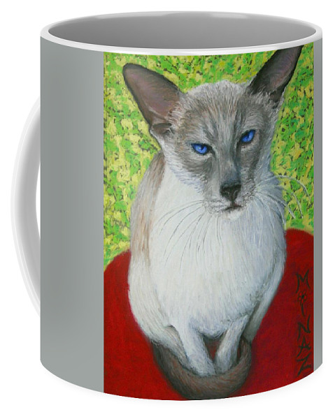 Siamese Coffee Mug featuring the painting I Am Siamese If You Please by Minaz Jantz
