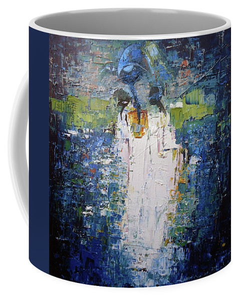 Figure Coffee Mug featuring the painting I Am With You by Lawani Sunday