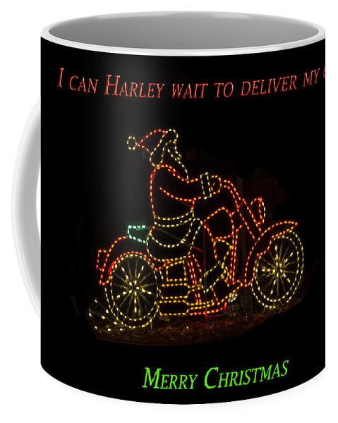 Harley Wait Coffee Mug featuring the photograph I Can Harley Wait by Jon Berghoff