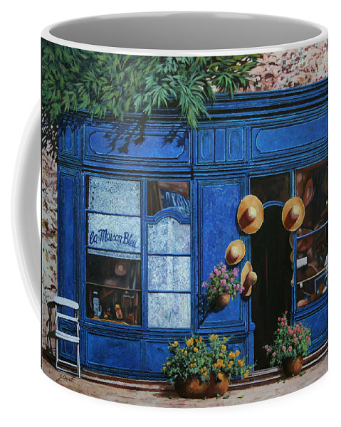 Shop Coffee Mug featuring the painting I Cappelli Gialli by Guido Borelli