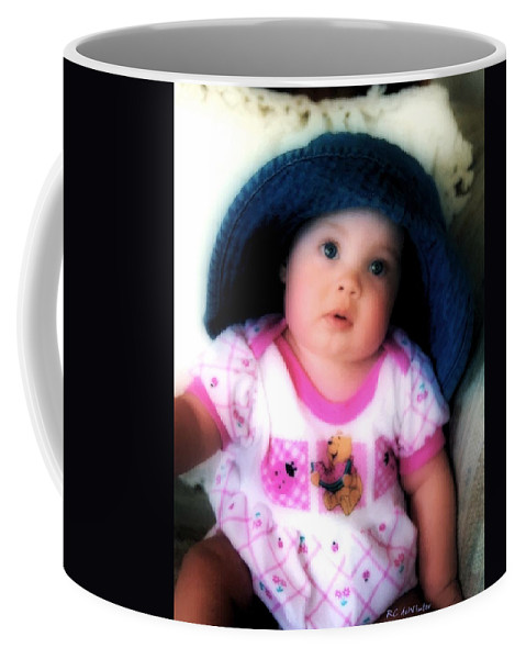 Baby Coffee Mug featuring the digital art I Dont Think So by RC DeWinter