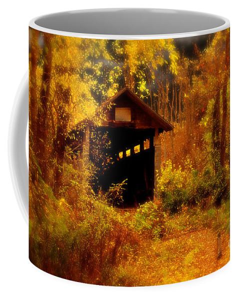 Halloween Coffee Mug featuring the digital art I Double Dog Dare Ya by Lois Bryan