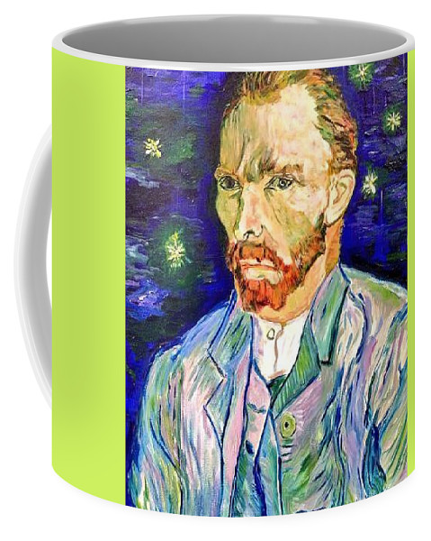 Vincent Van Gogh Coffee Mug featuring the painting I Dream My Painting And I Paint My Dream by Belinda Low