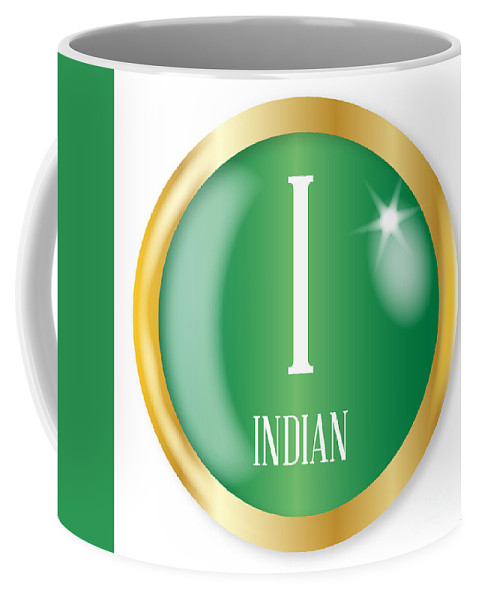 Indian Coffee Mug featuring the digital art I For Indian by Bigalbaloo Stock