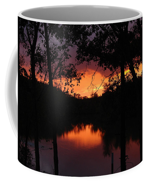 Sunset Coffee Mug featuring the photograph I Found Red October by J R Seymour