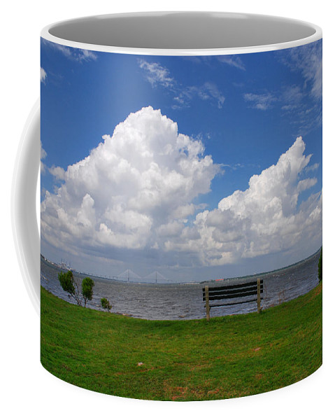 Bench Photos Coffee Mug featuring the photograph I Have Been Sitting There Many Times by Susanne Van Hulst