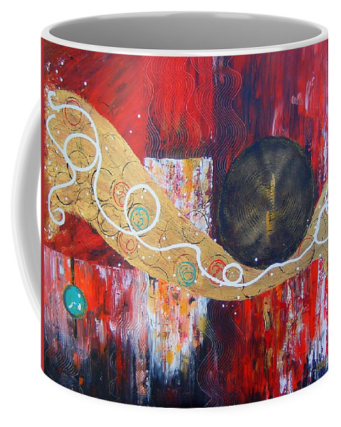 Abstract Coffee Mug featuring the painting I Hear Music by Cheryl Ehlers