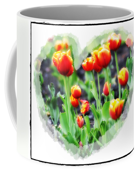 Heart Coffee Mug featuring the photograph I Heart Tulips by Bill Cannon