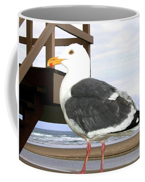 Seagull Coffee Mug featuring the photograph I Hope Lunch Is Ready by Will Borden