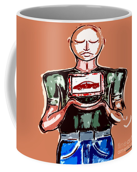 Car Coffee Mug featuring the painting I Love My Car by Patrick J Murphy