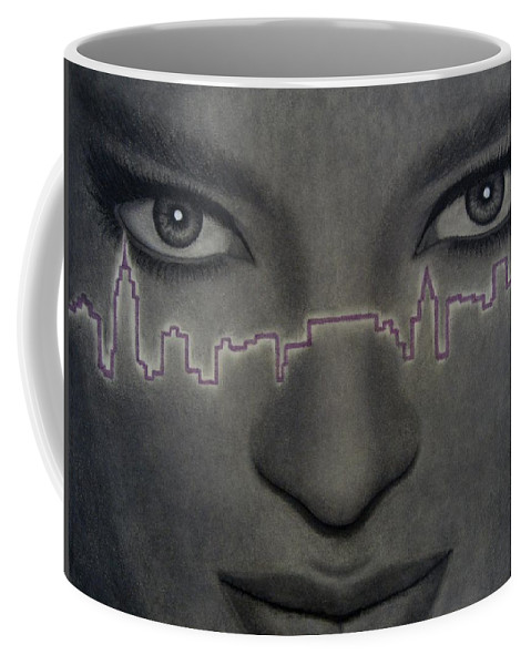 Woman Coffee Mug featuring the painting I Love New York by Lynet McDonald
